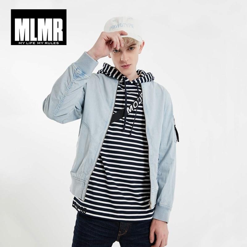 JackJones Men's MLMR Streetwear Straight Fit Pure Color Washed Baseball Jacket| 219121522