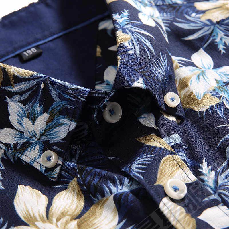 ビッグサイズ 8XL 6XL 4XL 男性シャツ夏スタイル花柄ビーチハワイシャツ男性カジュアル半袖ハワイシャツシュミーズオム