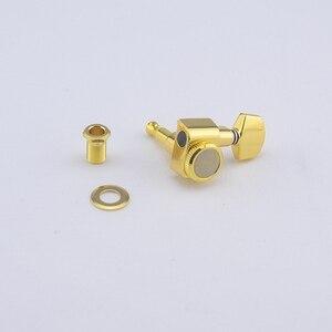 Image 4 - 1 Set 6 In Lijn Geen Schroeven Vergrendeling Elektrische Gitaar Machine Heads Tuners Lock String Stemsleutels Chroom Zilver