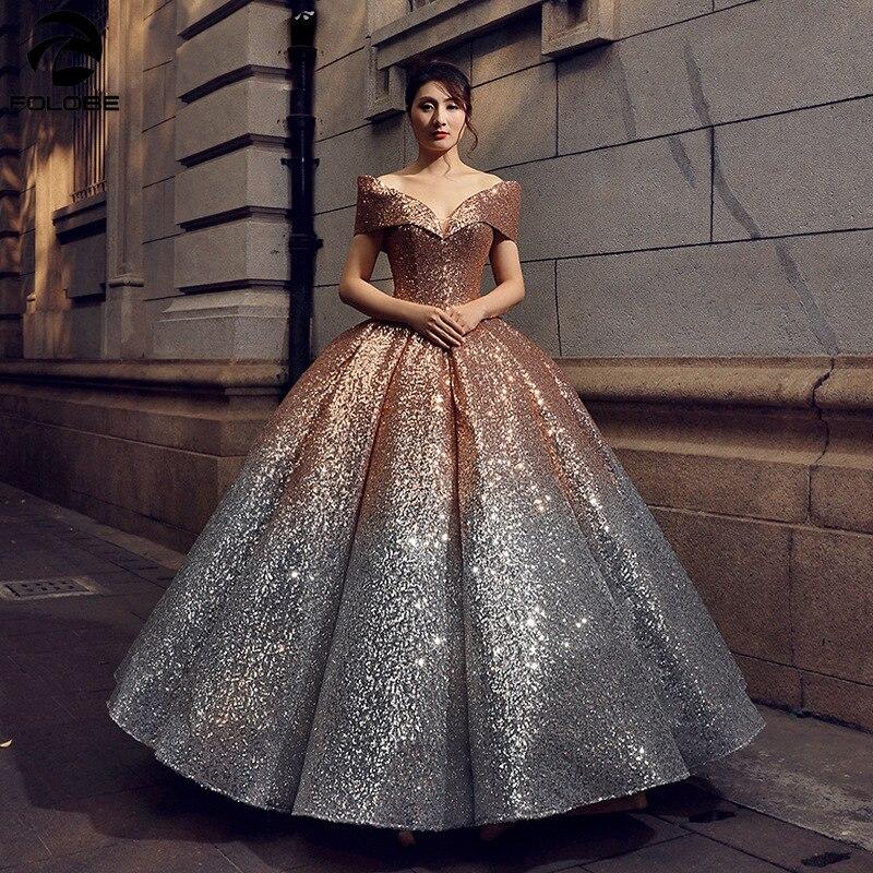 Sparkly gradiente ombre lantejoulas quinceanera vestidos para 15 anos vestidos de baile masquerade fora do ombro v-neck doce 16 vestido