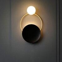Nórdico LEVOU desenhista da lâmpada do corredor corredor sala de estar fundo da parede de parede poste de luz luz moderno quarto de luxo lâmpada de cabeceira