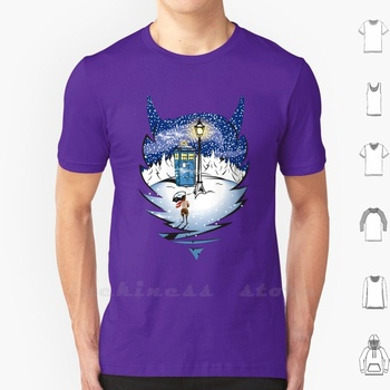 The Lion , The Witch , And The T Shirt Men Women Teenage 6Xl Narnia Tumnus Lamp Post Who Dr Who Tardis Snow Snow Faun Satyr image
