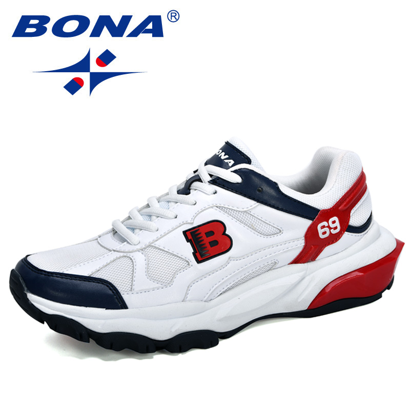 BONA 2020 New Designers Popular Running Shoes Men High Quality Outdoor Athletic Shoes Man Sneakers Outdoor Jogging Shoes Trendy