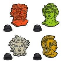 Mitologia grega medusa idol prometheus broche e esmalte pino ventilador coleção presentes