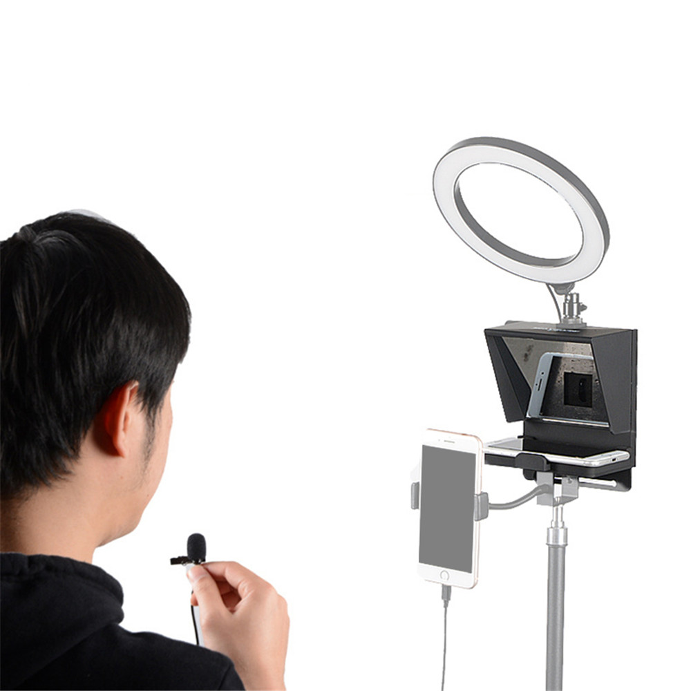 2020 New Mini Teleprompter Portable Inscriber Mobile Teleprompter Artifact Video With Remote Control for Phone and DSLR Recordin 4