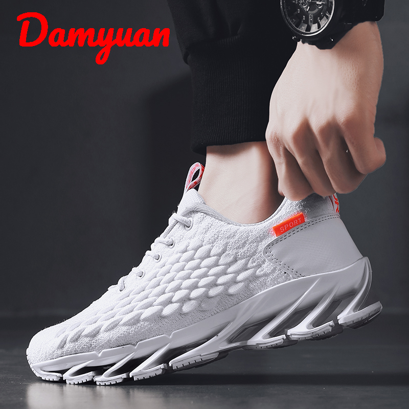 Damyuan 2019 Winter New Blade Men's Warm And Comfortable Men  Sneakers Outdoor Walking Breathable Running Shoes Big Size 45