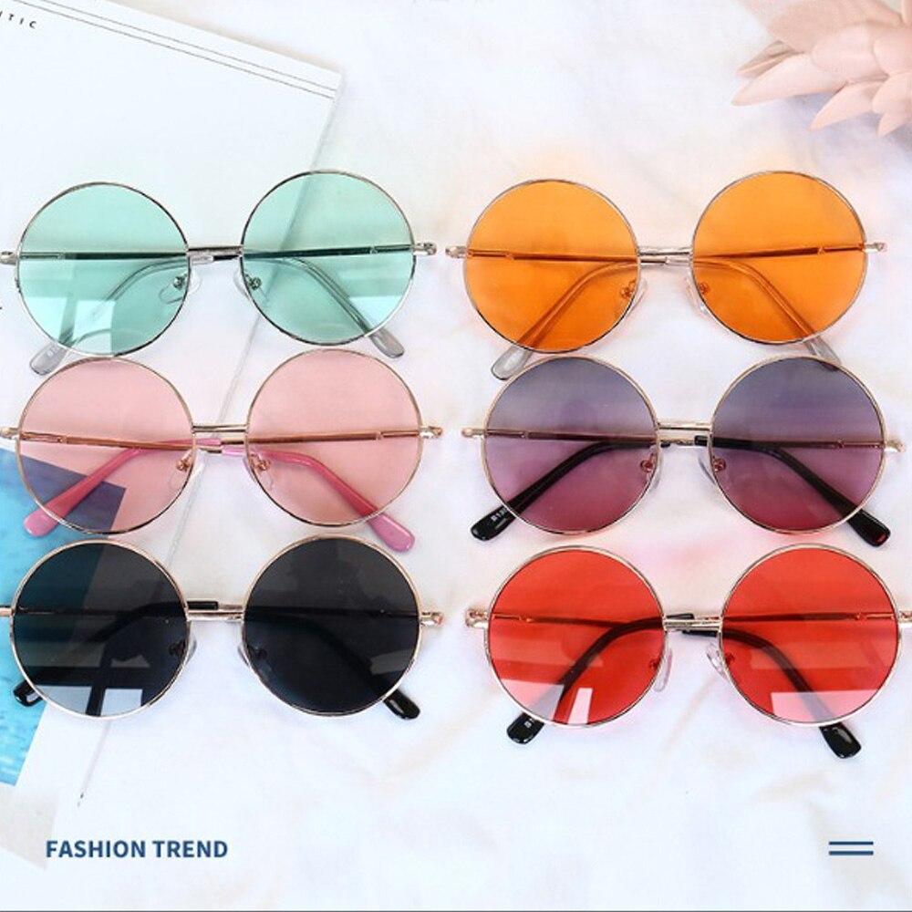 Rétro miroir rond enfants lunettes de soleil cadre en métal enfants lunettes de soleil pour voiture conduite voyage Protection lunettes UV400 lunettes