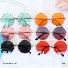Occhiali da sole per bambini a specchio rotondo retrò occhiali da sole per bambini con montatura in metallo occhiali da sole per auto protezione da viaggio occhiali UV400