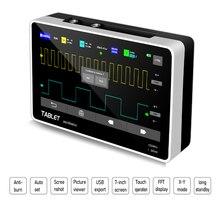 Novo FNIRSI-1013D digital tablet osciloscópio duplo canal 100m largura de banda 1gs taxa amostragem mini tablet digital osciloscópio