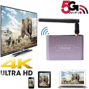 Image 1 - 4K 5G 1080P HDTV 스틱 HDMI VGA 3.5MM 오디오 무선 Wifi 디스플레이 동글 어댑터 스크린 미러 IOS 안 드 로이드 전화 TV 프로젝터