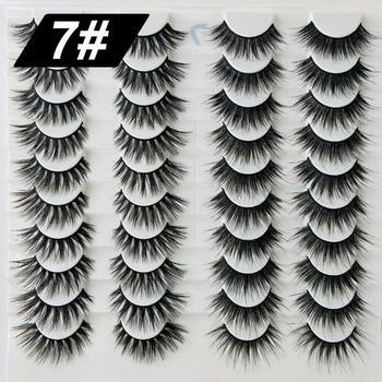 20 pairs 3d mink lashes natural false eyelashes fake lashes long makeup 3d mink eyelashes eyelash extension mink eyelashes for b недорого