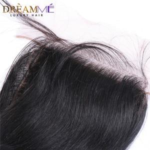 Image 3 - ברזילאי גוף גל משי בסיס סגירת משי למעלה סגר עם תינוק שיער נסתרת קשרים שיער טבעי סגירת Dreamme רמי שיער