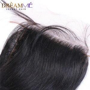 Image 3 - Onda solta brasileira seda base encerramento de seda fechamento superior com o cabelo do bebê nós ocultos fechamento do cabelo humano dreamme remy cabelo