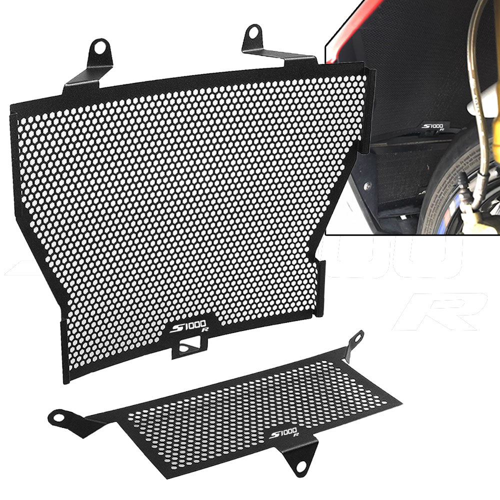 Motorcycle <font><b>S1000R</b></font> Radiator Grille Guard Cover And Oil Cooler Guard Set FOR <font><b>BMW</b></font> S 1000 R 2013 2014 2015 2016 2017 <font><b>2018</b></font> 2019 2020 image