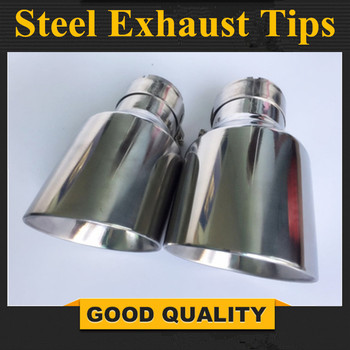 1PCS Inlet (54mm) Outlet (89mm)  stainless steel Exhaust Tip/Muffler pipe For B MW ENZ A UDI V W Car Accessories - discount item  51% OFF Auto Replacement Parts