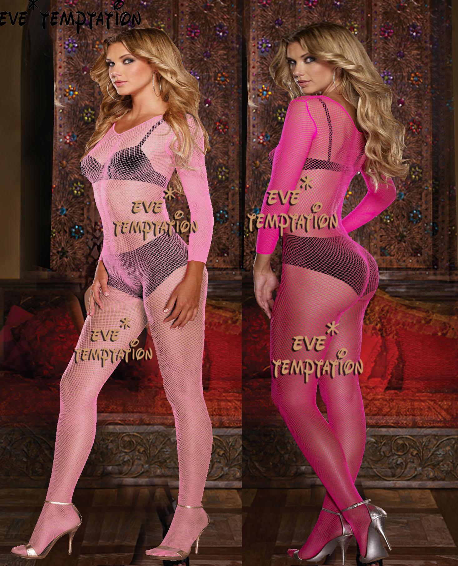 HOT Sexy Adult Sleepwear Lingerie Babydoll BODYSUIT Mesh Floral Body Stocking Intimate Perforate Sleepwear Teddy Dolls W013