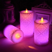 Remote Control LED Candle Lights with Timer Flameless RGB Candle Night Light Tea Lights for Home Wedding Christmas Decoration