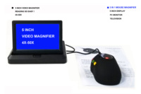 2020 HD 5Inch Screen Mouse Loupes Visual Aid Portable Magnifier Desktop Reader Low Vision Aid Electronic Magnifying Glass Lupa
