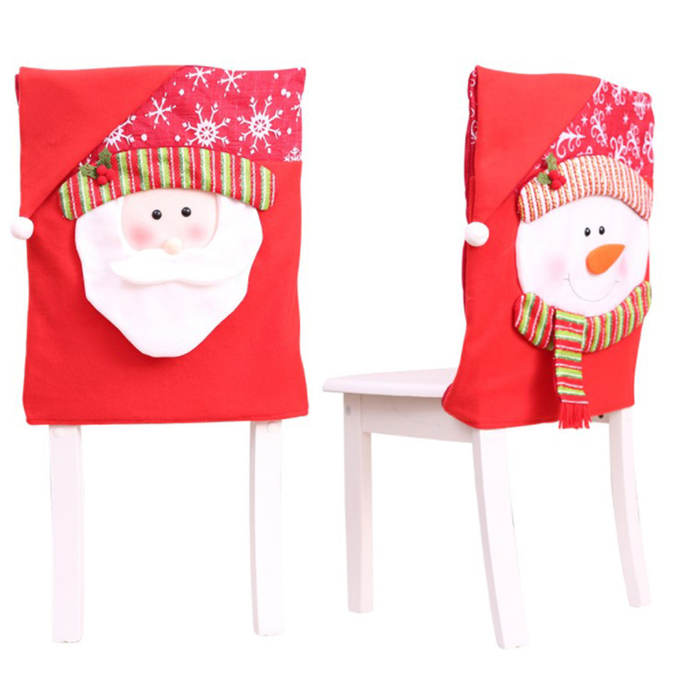New Year Christmas Decoration Chair Covers Dining Seat Santa Claus Christmas Grandma Chair Cover For Home Party Decor