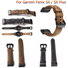 Classic Leather wrist Watch Strap Easy fit quick Link Bracelet Belt 26MM For Garmin Fenix 3/Fenix 5X fashion Watchband wristband quick easy fit genuine leather watchband 26mm for garmin fenix 5x 3 3hr watch band stainless steel clasp strap wrist bracelet