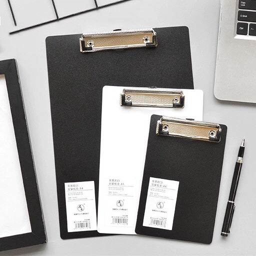 A4 A5 A6 File Paper Clip Black White Folder Writing Board Metal Clip Document Ticket Menu Clipboard Stationery Office Supplies