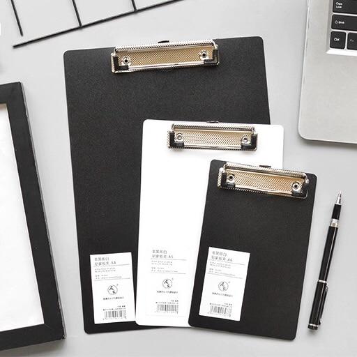 A4 A5 A6 File Paper Clip Black White Folder Writing Board Metal Clip Document Ticket Menu Clipboard Stationery Office Supplies