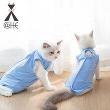 @HE Cat Sterilization Service Clothing Post Operative Pet Anti Licking Comfortable Recovery Suit Cat Vest T-shirt Shirt Apparel стоимость
