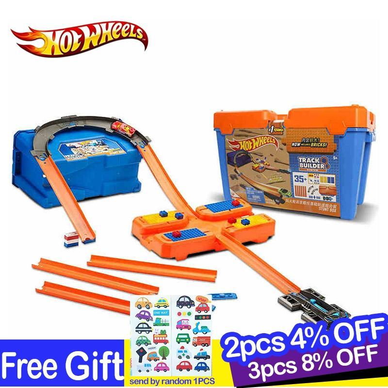 Hot Wheels original Car Track box Set Multifunctional Brinquedos Diecast Hotwheels Kids Toys For Children Birthday Gift oyunca