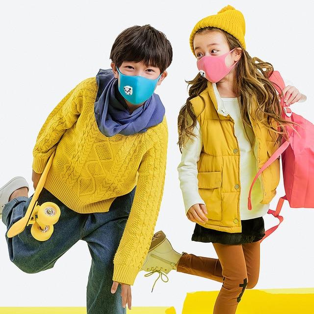 1PCS  Panda Mouth Mask Kids BOYS and Girl Thicken Sponge Face Mouth Mask PM2.5 Respirator Children Blackpink Breath Valve Mask 3