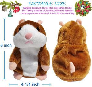 Image 3 - Neue Reden Hamster Maus Haustier Plüsch Spielzeug Heiße Nette Sprechen Reden Sound Record Hamster Pädagogisches Spielzeug für Kinder Geschenke 15 cm