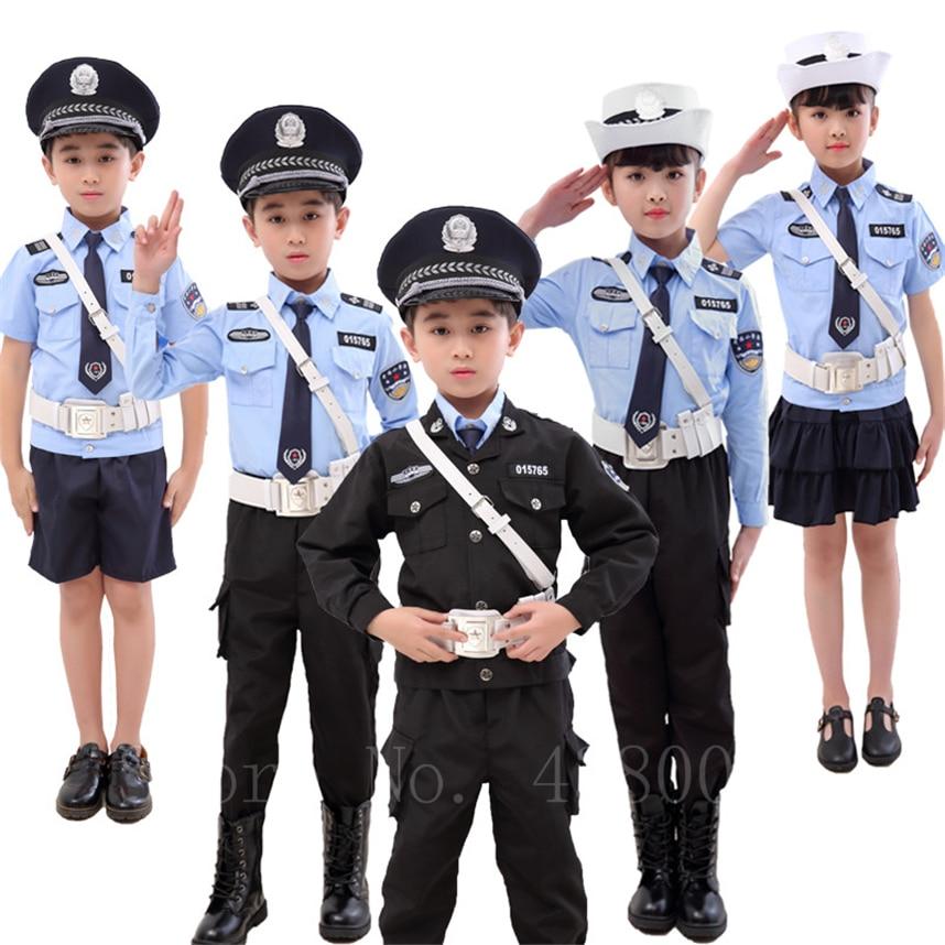 Детский костюм для косплея, костюм полицейских, вечерние костюмы на Хэллоуин