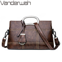 Vintage Leather Crossbody Bag Hand Bags For Women 2020 Designer Women Shoulder Messenger Bags Sac Ladies Handbags High Quality