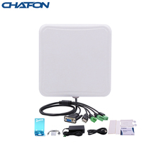 CHAFON 5-6m Uhf Rfid Reader Long Range Built in 6dbi Circular Antenna RS232 WG26 USB RELAY Ethernet for Vehicle Management