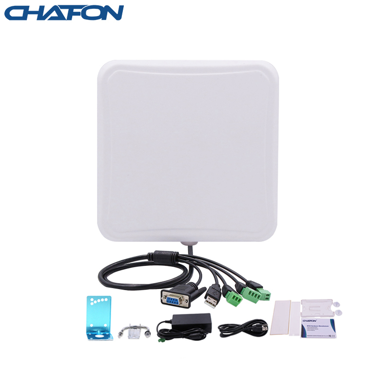 CHAFON 6m Small Integrated Reader Uhf Rfid USB RS232 WG26 RELAY IP66 Built-in 6dbi Antenna Free SDK For Car Parking Management
