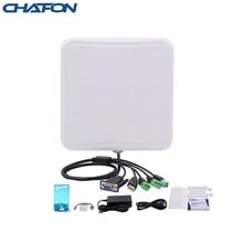 CHAFON 6m 소형 통합 리더 uhf rfid USB RS232 WG26 릴레이 IP66 내장 6dbi 안테나 무료 주차 관리 용 SDK