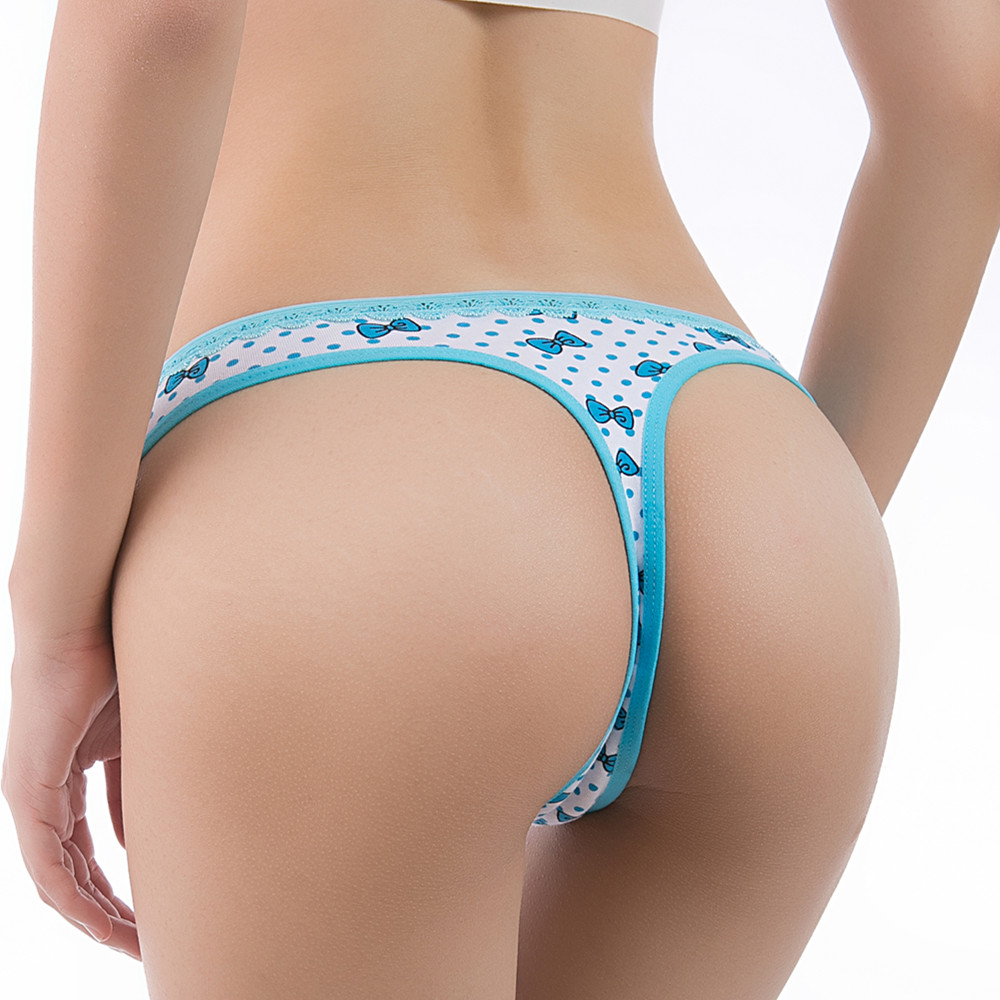5pcs G-string For Women Cotton Underwear Female Thong  Sexy Lingerie Girls Underpants Ladies Casual T-back Intimate Panties