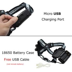 Image 3 - 強力な 9 LED USB ヘッドランプ 25000 Lm XML T6 Q5 Led ヘッドトーチ額ライトフロント懐中電灯 18650 ヘッドライト + USB ケーブル