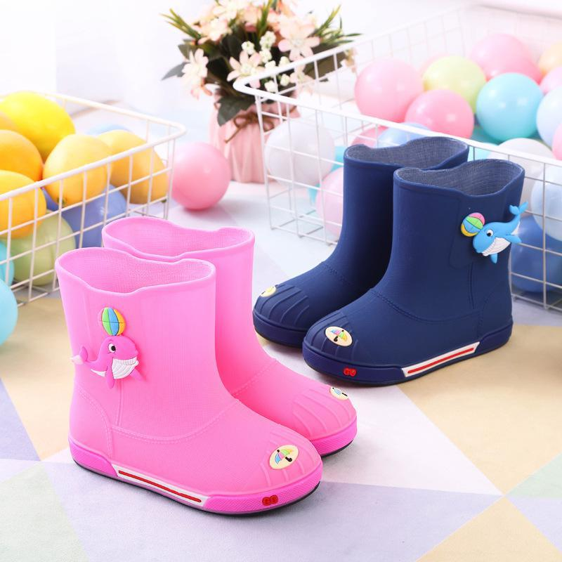 Rain Boots Kids Boys Non-slip Rubber Boots Toddler Girls Waterproof Water Shoes Warm Children Rainboots Four Seasons Remo Rainbo