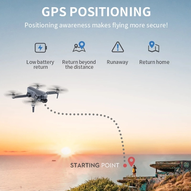 SJRC F11 4K PRO GPS Drone with FPV 4K HD Camera Two-axis Anti-shake Gimbal Brushless Quadcopter 2