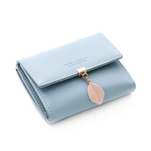 Europe and America hot sale ladies small wallet folding student short wallet fashion pattern decoration multi-card coin purse