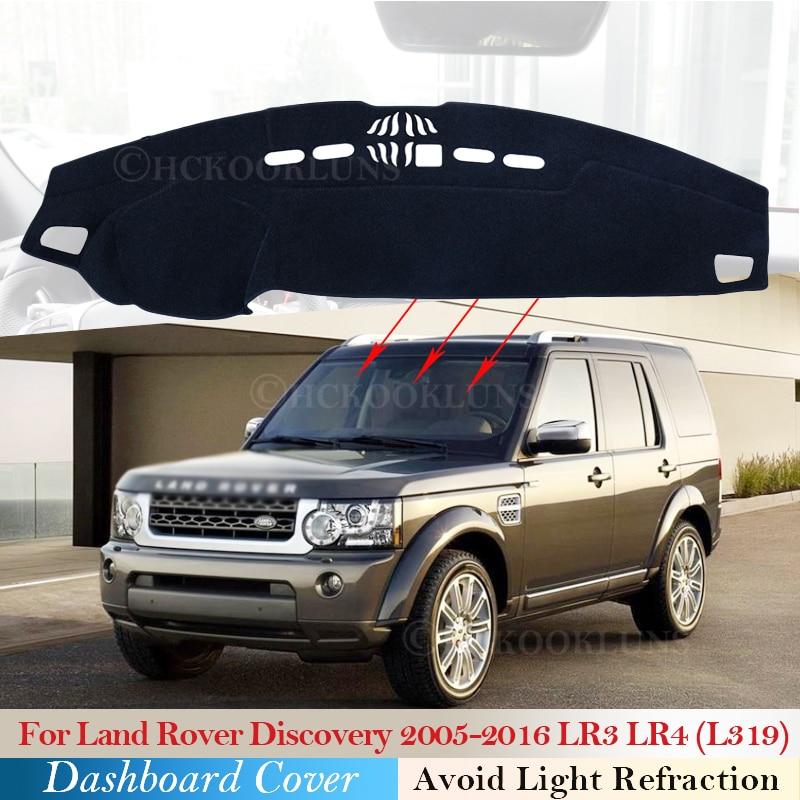 4 3 Cover Dashboard Pad Proteção para a Descoberta de Land Rover 2005 ~ 2016 LR3 LR4 Acessórios Do Carro Painel de Bordo Sombrinha tapete L319