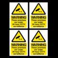 4x CCTV изображения опознавательных знаков 24-часовое наблюдение A6 самоклеющиеся наклейки
