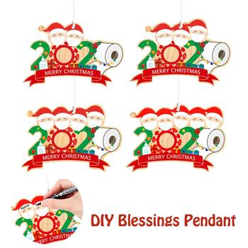 Christmas 2020 Ornament Personalized Survived Family DIY Name Blessing Christmas Decoration For Home Wood Pendent Navidad image