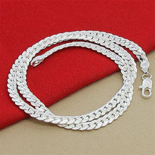 Модное 5 мм мужское ожерелье из нержавеющей стали Панк звено