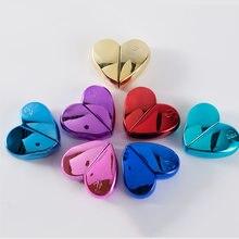 Дорожный многоразовый парфюмерный атомайзер в форме сердца 25