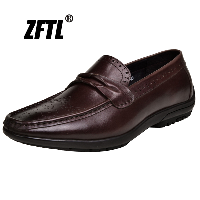 ZFTL NEW men's loafers man Genuine Leather Spring and Autumn business shoes handmade men's casual driving shoes male boat shoes