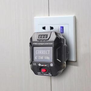 Image 4 - TOOLTOP ET89 détecteur de prise Portable affichage numérique testeur de prise électrique testeur de câblage de fréquence de tension Test RCD ue/US