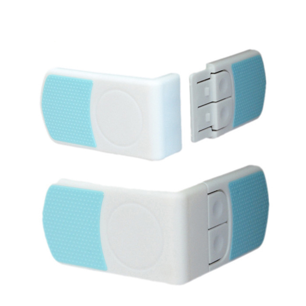 Hot Baby Safety Lock Door Fridge Drawer Wardrobe Angle Safety Lock For Children Kid Toddler Double Snap Lock 1