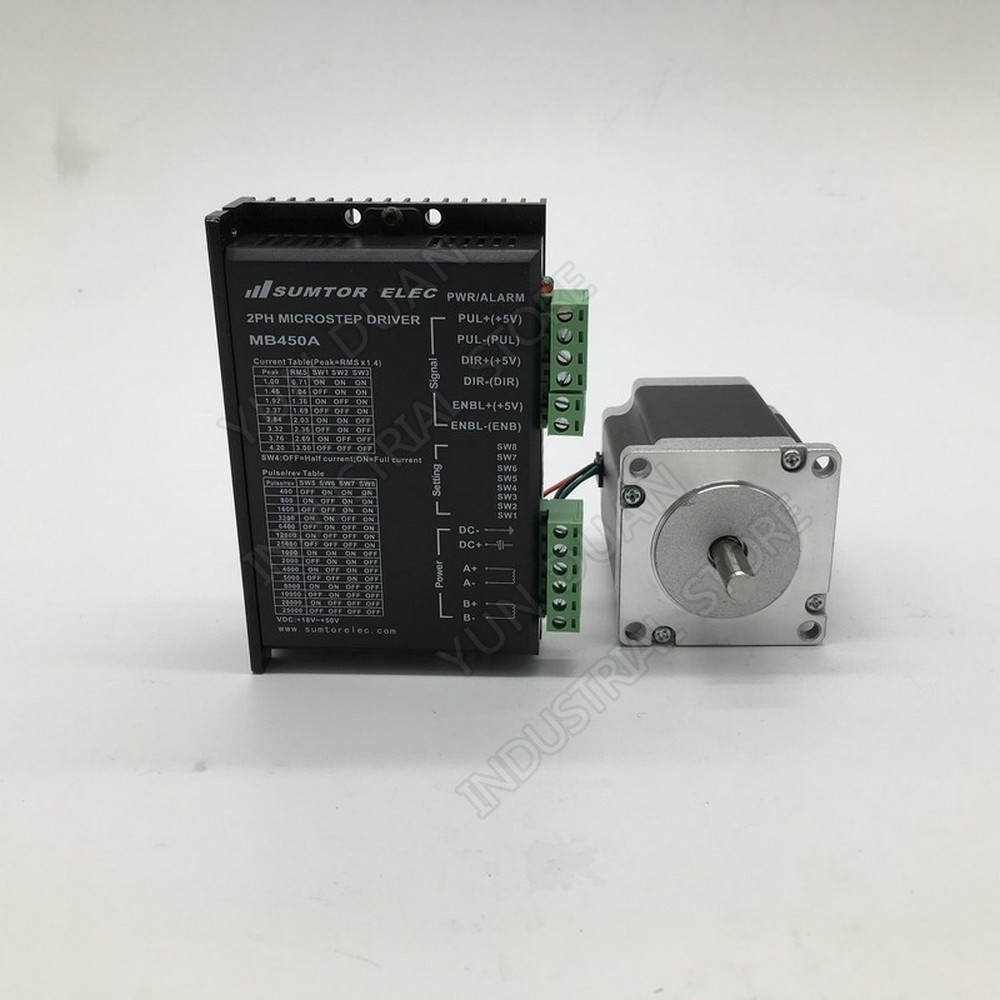 Nema23 57MM  Stepper Motor  driver kit 1.8NM 260Oz in 2PH High Torque For CNC Router Speed Reducers     -
