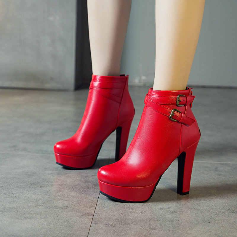 Yeni moda bayan botları seksi yüksek topuklu Platform yarım çizmeler kadınlar için siyah kırmızı sarı beyaz topuklu ayakkabı bayanlar 2020